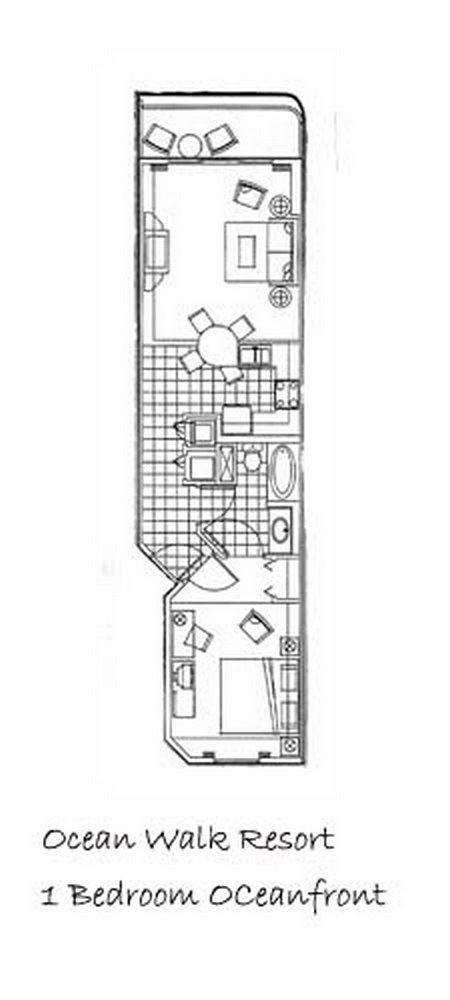 1 bedroom floorplan