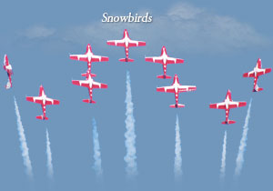 Canadian Snowbirds- Daytona Beach Air Show