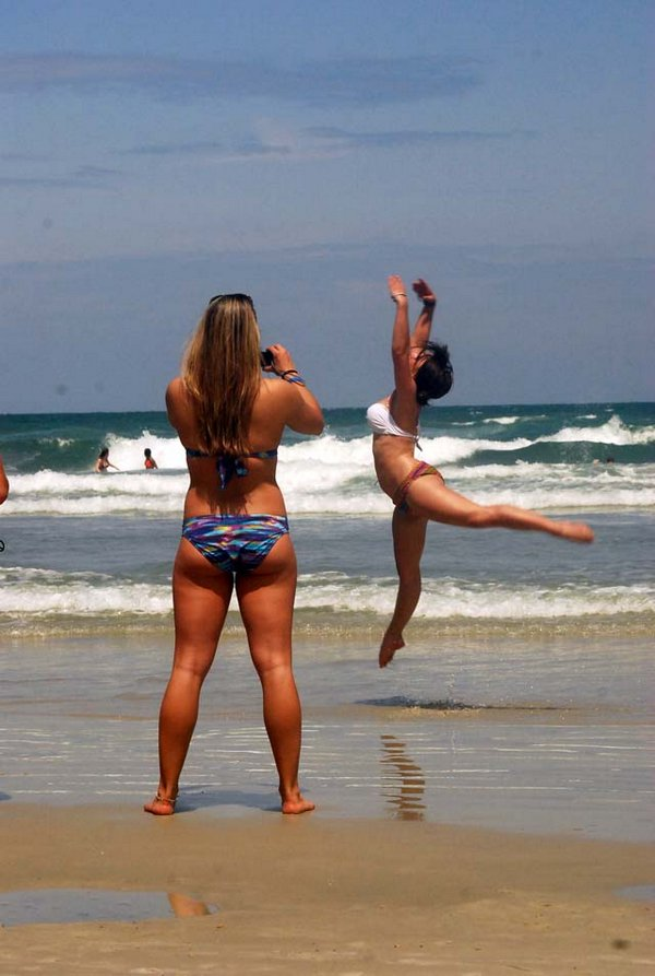 Dancing on Daytona Beach