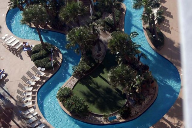 Ocean Walk Resort Pools – View From 25th Floor