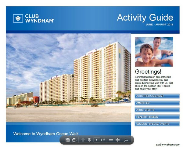 Wyndham's Ocean Walk Resort – On Site Activities for children