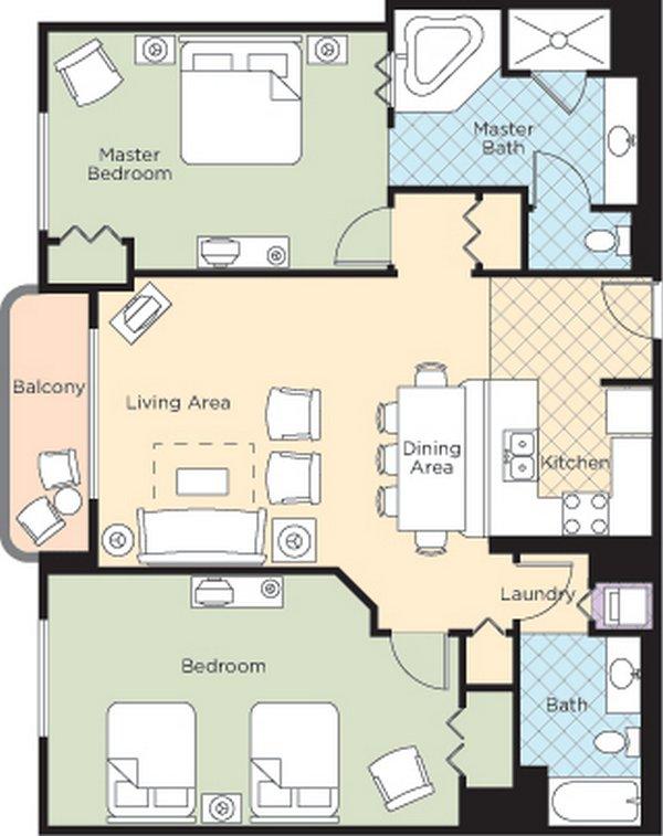 Ocean Walk Resort Floorplans