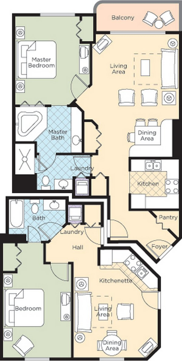 Ocean Walk Resort Floorplans